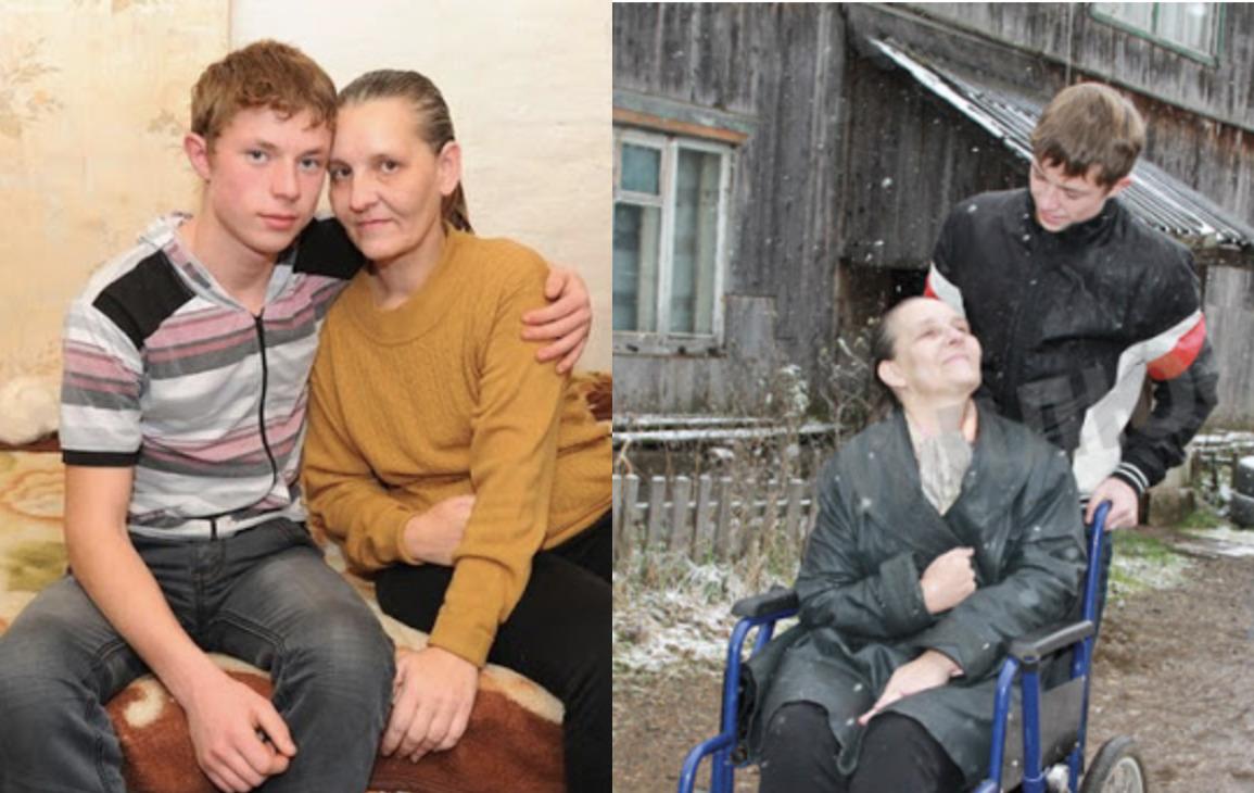 Коли маму підкосив інсульт, 8 річний школяр залишився з бідою сам на сам і взявся доглядати за матір'ю
