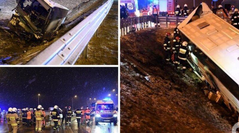 Знову трагедія! У Польщі автобус з українцями потрапив у жахливу ДТП: є загиблі і багато поранених. Фото (16+)
